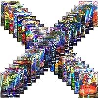 Jeu de Cartes Poké GX, 120 Cartes Poke Avec 115 Cartes à Collectionner GX + 5 Cartes Mega Poke pour Enfants et Enfants