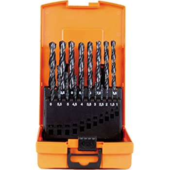 PROJAHN 67314 drill bit set HSS-G Turbo 1-10 mm 19pcs plastic case