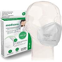 Medisana FFP2/KN95 5x Atemschutzmasken Staubmaske RM 100 Atemmaske 3-lagige Staubschutzmaske Mundschutzmaske…