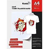 KOALA Inkjet Iron On T Shirt Transfer Paper for Light Fabrics x 10 Sheets, A4