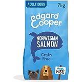 Edgard & Cooper Pienso Perros Adultos Comida Seca Natural Sin Cereales Hipoalergenico 7kg Salmon Fresco, Fácil de digerir, Al