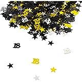 Oblique Unique® 18. Geburtstag Jubiläum Konfetti Gold Silber Schwarz Sterne Tisch Deko 500 Stück