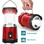FINIVIVA LED Rechargeable Solar Emergency Light Lantern with USB Mobile Charging,Torch Point, 2 Power Source Solar and...