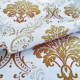 WOW Interiors PVC Self Adhesive, Peel and Stick Golden Floral Wallpaper, 400CMx45CM, Multicolor, Standard (4K_F1111)