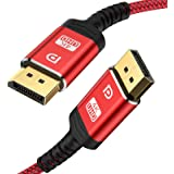 DisplayPort Cable,Capshi 4K DP Cable Nylon Braided -(4K@60Hz, 2K@144Hz) Gold-Plated DP to DP Cable(NOT HDMI) Ultra High Speed