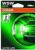 Osram 2825ULT-02B Ampoules de Signalisation Ultra Life W5W Orange, Blister double Set de 2