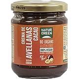 NaturGreen - Crema De Y Avellanas Bio, Crema Untable 100% Ecológica, Bajo Contenido En Sodio, Cacao, 200 Gramo