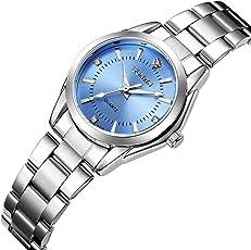 Damen Uhren Casual Fashion Slim Wasserdicht Uhren Diamant Strass Edelstahl Quarz Armbanduhr