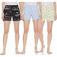Longies Women Cotton Shorts Pack of 3