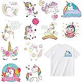 Parches Stickers de Unicornio Termoadhesivos Parche Apliquesde transferencia de calor de DIY Para camiseta Chaqueta Vaqueros