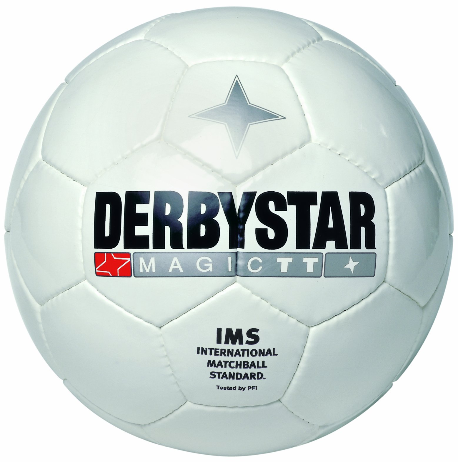 Derbystar Magic TT - Pallone da calcio taglia 5, colore: Bianco