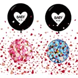JIASHA Palloncino Gigante, Baby Shower Balloon, Boy or Girl Banner, Gender Reveal Party Kit, Genere Rivela i Palloncini del P