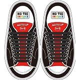 Yuccer Lacets Elastiques Enfant 6 Paquets Silicone Imperm/éable Lacets Magiques No Tie Lacets pour Chaussures