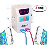 RiaTech Allen 3 Pin MultiPlug Universal Socket 220V Individual Switches & 3 Sockets With 2 PortUSB