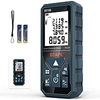 Metro Laser 100m, DTAPE DT100 Telemetro Laser Distanziometro Laser Impugnatura Portatile Strumento di Misura Digitale…