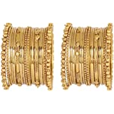 MUCH-MORE Fusion & Traditional Style Metal Bangles Party & Occasionally Use for Girls