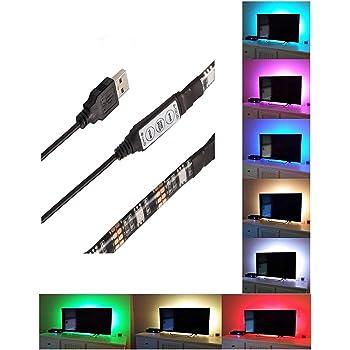 Tingkam Multi Colour Rgb 50cm 19 7in Led Strip Light Pc