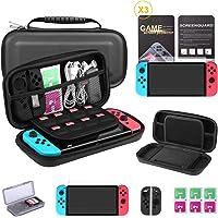 Bestico Custodia Compatibile con Nintendo Switch,Kit Accessori 6 in 1 per Nintendo Switch include Custodia per Switch…