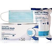 SUMGER Medizinische Einwegmasken, 50 Einheiten, Farbe, CE Zertifizierte, BFE ≥ 98%, EN 14683: 2019 + AC: 2019