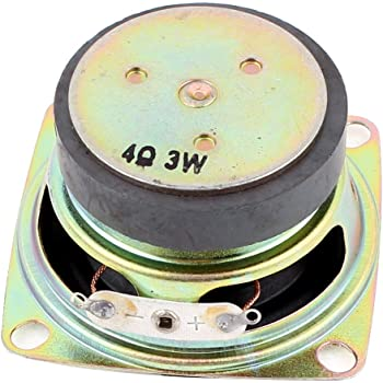 sourcingmap® Multimedia 3W 3 Watt 4 Ohm 52mm Dia Aluminum Internal Magnet Speaker