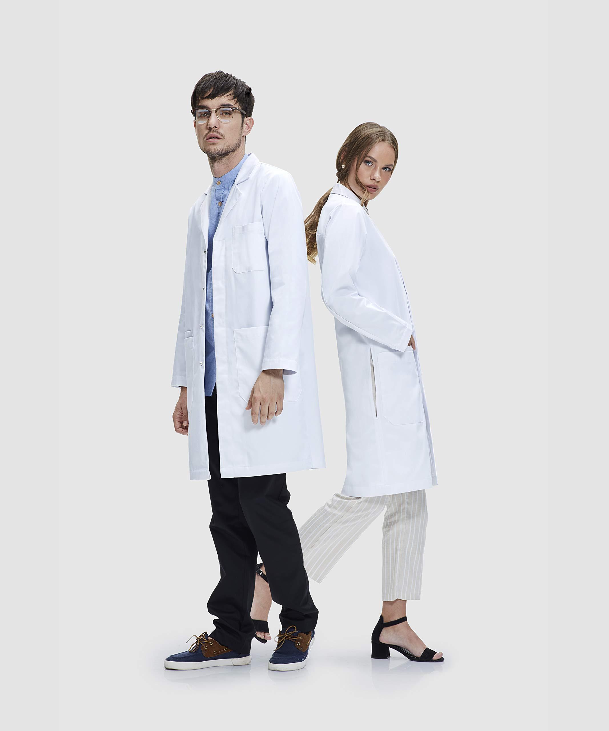 James Camice da Laboratorio Unisex 100% Cotone vestibilità Classica Dr