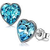 ANGEL NINA Regalo di San Valentino per lei, Pure Love, argento sterling 925, blu oceano, Cristallo di Swarovski, con confezio