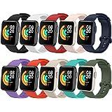 BDIG 10 armbanden voor Xiaomi Mi Watch Lite/Redmi Watch, Mi Watch Lite, kleurrijke, zachte siliconen, reservearmband, waterdi