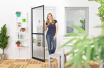Insektenschutz Fliegengitter Tür Alurahmen Master SLIM PLUS Zuschnitt weiß, braun oder anthrazit