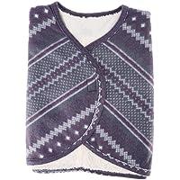 Uxsiya 38 * 90CM Schulterkap Doppelseitiger Plüsch-Schulterschal Weste-Schal für Winter Schulter und Hals warm