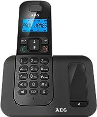 """AEG Voxtel D500 - Schnurloses 1.6"""" DECT-Telefon mit Freisprecheinrichtung im Mobilteil - Schwarz"""