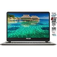 Asus Vivobook notebook, SSD M.2 da 256Gb + HDD 500GB, Cpu Intel N4000 fino a 2.6Ghz, RAM 8Gb DDR4, Display da 15,6 HD, wi-fi, 3 Usb, Bt, Win 10 pro, Office 2019, Pronto All'uso Gar. Italia