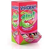 Vivident Fruit Blast, Gomme da Masticare senza Zucchero Gusto Fragola e Lime, Ripieno, Confezione da 200 Monopezzi