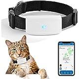 Mini Localizzatore GPS Tracker Collare per Pets Cani e Gatti Animali Impermeabile, GSM/GPRS/GPS Tracker Real-time con App Gra
