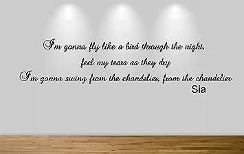 Chandelier lyric light shop light ideas juko sia chandelier wall sticker i feel the love lyric decal 57cm juko sia chandelier wall aloadofball Choice Image