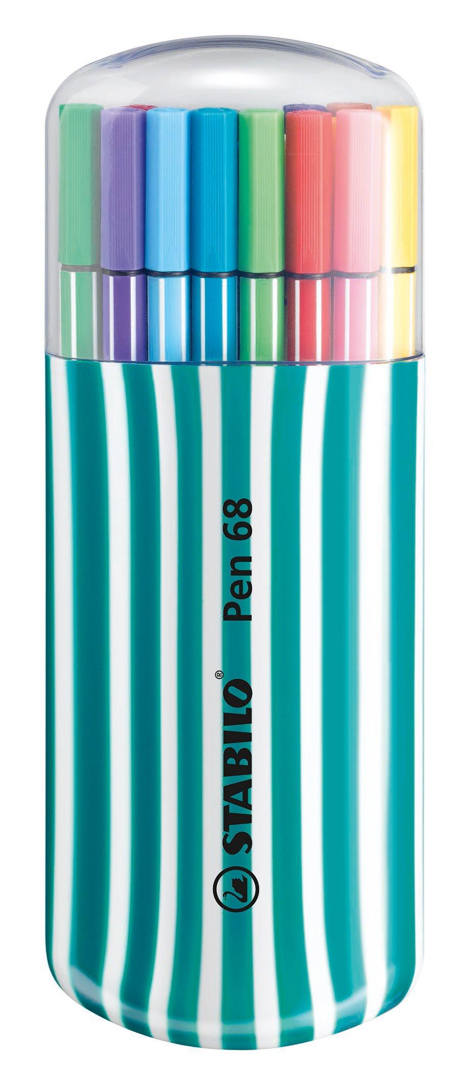 Rotulador STABILO Pen 68 – Estuche premium Zebrui con 20 colores