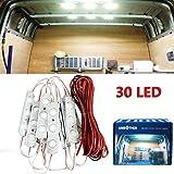 AMBOTHER 30 LED bil interiörlampor kit LED projekt lins belysning lampa arbetslampa för lastbil bil kit fordon, husbil, husva
