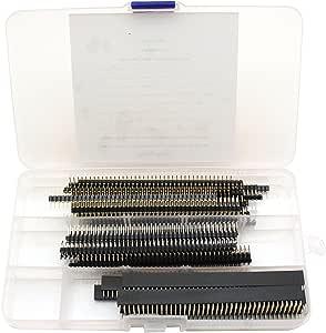 Raogoodcx 40 Stück 8 Verschieden Arten Von 2 54 Mm Abtrennbaren Leiterplatten Steckverbinder Kit Mit 40 Pin Stift Und Buchsenleisten Weiblich Und Männlich Für Arduino Prototype Shield Computer Zubehör