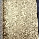 3D wasserdichte Tapete Goldfolie Luxus Hotel Decke dekorative Wand Papier Kaufen Sie drei bekommen eins frei (Color : Brushed gold)