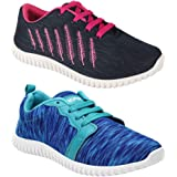 WORLD WEAR FOOTWEAR Women Combo Pack of 2 Multicolour Latest Collection Loafers Sneakers Shoes (Combo-(2)-1162-5026)