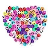 SAVITA 100st Smiley Handgemaakte Kralen Gemengde Kleuren Smiley Polymeer Klei Kralen Polymeer Klei Kralen voor Het Maken van