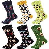 Calcetines coloridos para hombre – calcetines de vestir de algodón con diseño innovador, estilo informal, 6 pares