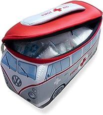 VW Collection by BRISA VW Bus T1 Universaltasche aus Neopren, Klein (First Aid), inkl. Erste-Hilfe Set
