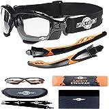 Spoggles di sicurezza Premium by ToolFreak | Combinazione perfetta di occhiali protettivi (Lenti trasparenti)