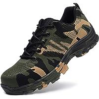 Minetom Chaussure de Sécurité Homme Femme Camouflage Respirant Chaussures de Travail avec Embout de Protection en Acier…