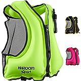 Khroom® uppblåsbar flytväst – väger endast 400 st. – Simhjälp för snorkling, kajak och SUP – för vuxna