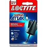 Loctite Super Attak Brush, Adesivo Istantaneo con Pennello Facile e Preciso, Colla Liquida Trasparente per Gomma, Metallo, Ce