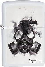 Zippo Unisex spazuk Gas Maske Regular Winddicht Leichter, weiß matt, One Size