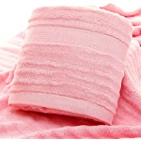 Mush Bamboo Bath Towel: Ultra Soft, Absorbent and Anti Microbial 600 GSM, Large Size 29 X 59 Inches (Pink)