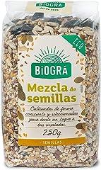 Biográ Mix de Semillas de Girasol, Sésamo, Calabaza, Lino y Amapola, 250g
