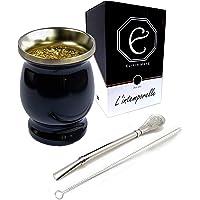 Elixir Maté™ | Calebasse + Bombilla + Nettoyeur de Paille pour Yerba Mate | Coffret Cadeau Premium | Tasse Haut de Gamme…